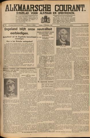 Alkmaarsche Courant 1939-11-17