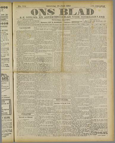Ons Blad : katholiek nieuwsblad voor N-H 1919-06-14