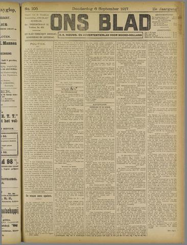 Ons Blad : katholiek nieuwsblad voor N-H 1917-09-06