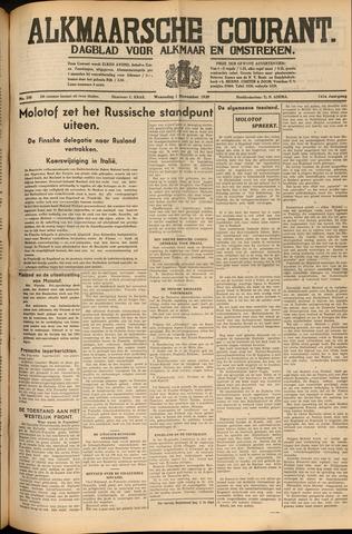 Alkmaarsche Courant 1939-11-01