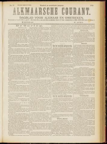 Alkmaarsche Courant 1915-04-21