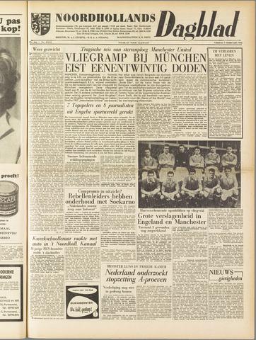 Noordhollands Dagblad : dagblad voor Alkmaar en omgeving 1958-02-07