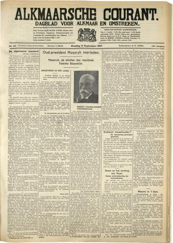 Alkmaarsche Courant 1937-09-14