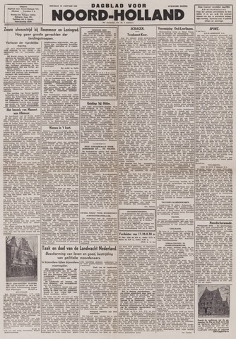Dagblad Noord-Holland, Schager editie 1944-01-25
