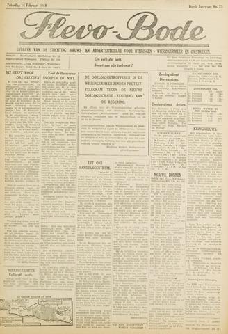 Flevo-bode: nieuwsblad voor Wieringen-Wieringermeer 1948-02-14