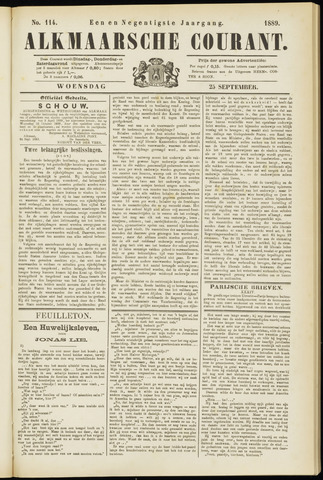Alkmaarsche Courant 1889-09-25