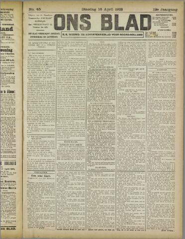 Ons Blad : katholiek nieuwsblad voor N-H 1918-04-16