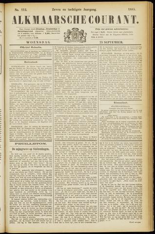 Alkmaarsche Courant 1885-09-23