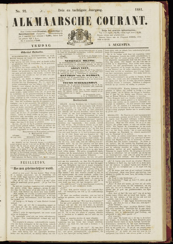 Alkmaarsche Courant 1881-08-05