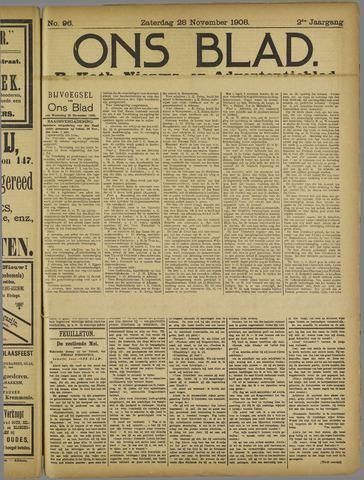 Ons Blad : katholiek nieuwsblad voor N-H 1908-11-28