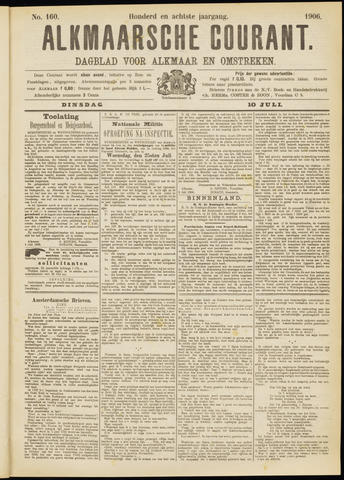Alkmaarsche Courant 1906-07-10