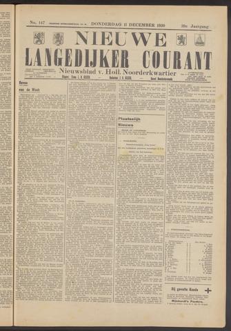 Nieuwe Langedijker Courant 1930-12-11