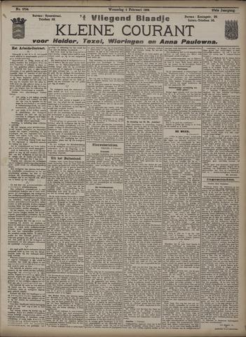 Vliegend blaadje : nieuws- en advertentiebode voor Den Helder 1909-02-03
