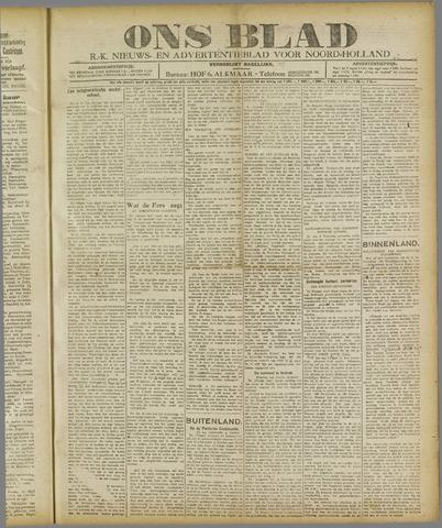 Ons Blad : katholiek nieuwsblad voor N-H 1921-02-10