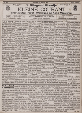 Vliegend blaadje : nieuws- en advertentiebode voor Den Helder 1906-02-21