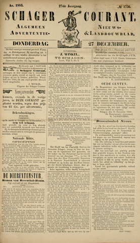 Schager Courant 1883-12-27