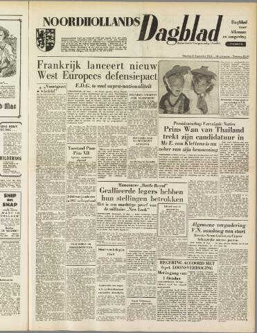 Noordhollands Dagblad : dagblad voor Alkmaar en omgeving 1954-09-21