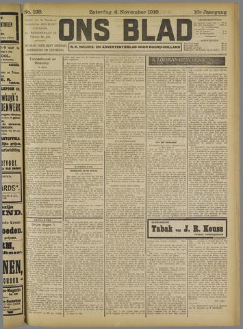 Ons Blad : katholiek nieuwsblad voor N-H 1916-11-04