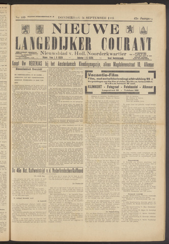 Nieuwe Langedijker Courant 1933-09-14