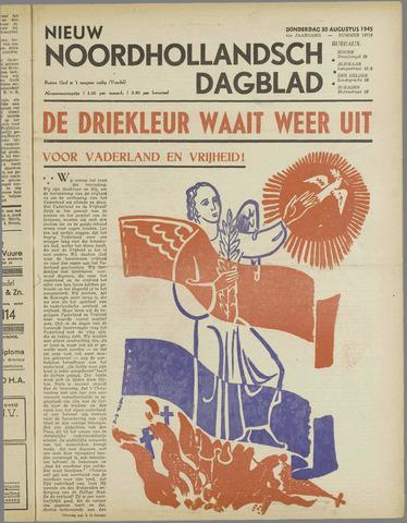 Nieuw Noordhollandsch Dagblad : voor Alkmaar en omgeving 1945-08-30