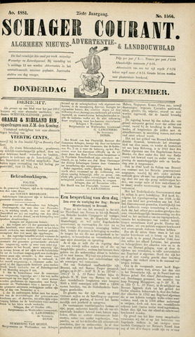 Schager Courant 1881-12-01