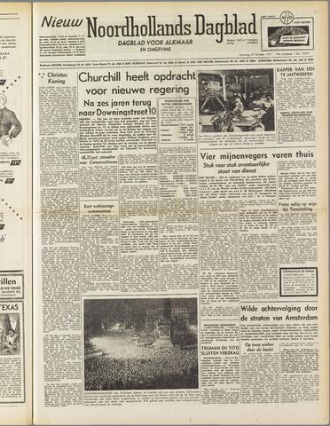 Nieuw Noordhollandsch Dagblad : voor Alkmaar en omgeving 1951-10-27