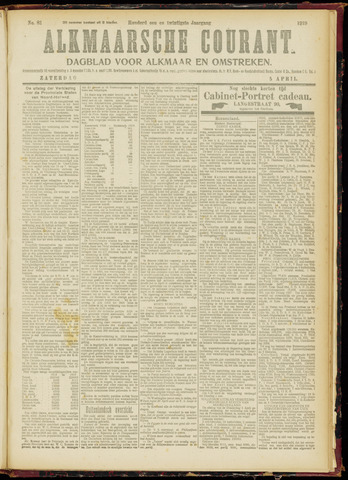 Alkmaarsche Courant 1919-04-05