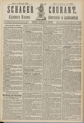 Schager Courant 1920-06-22