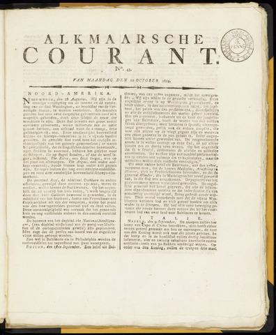 Alkmaarsche Courant 1814-10-10