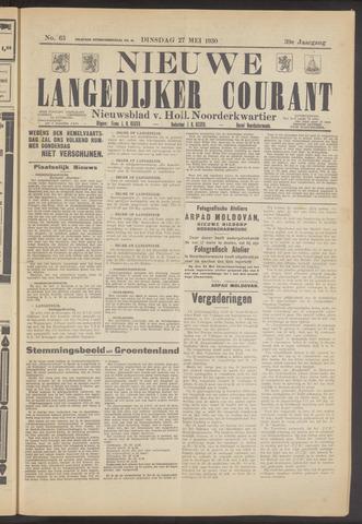 Nieuwe Langedijker Courant 1930-05-27