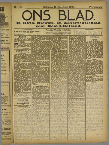 Ons Blad : katholiek nieuwsblad voor N-H 1908-12-12