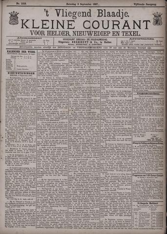 Vliegend blaadje : nieuws- en advertentiebode voor Den Helder 1887-09-03