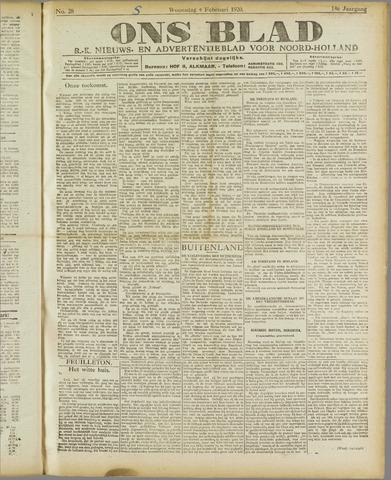 Ons Blad : katholiek nieuwsblad voor N-H 1920-02-04
