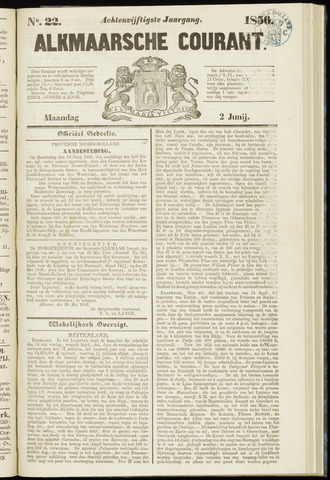 Alkmaarsche Courant 1856-06-02