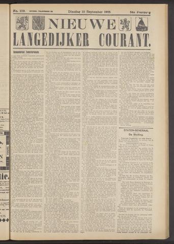 Nieuwe Langedijker Courant 1925-09-15