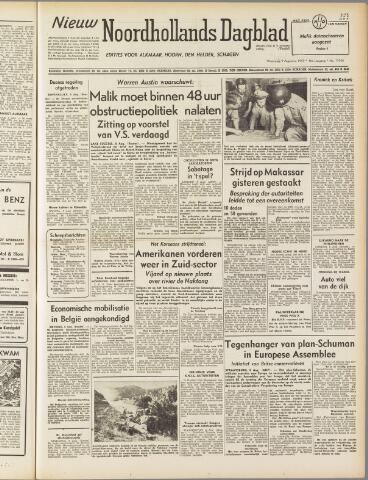 Nieuw Noordhollandsch Dagblad : voor Alkmaar en omgeving 1950-08-09
