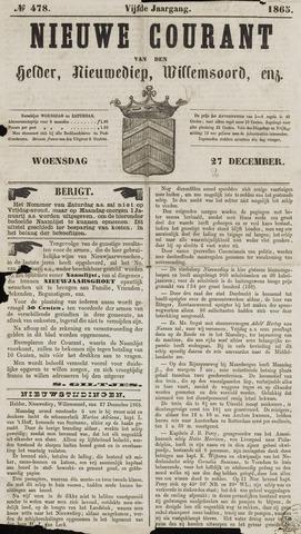 Nieuwe Courant van Den Helder 1865-12-27