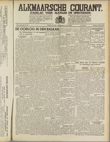 Alkmaarsche Courant 1941-04-08