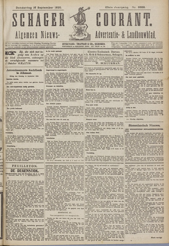 Schager Courant 1920-09-16