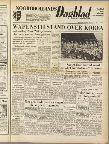 Noordhollands Dagblad : dagblad voor Alkmaar en omgeving 1953-07-27