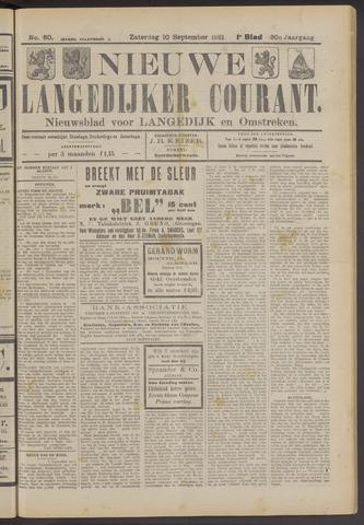 Nieuwe Langedijker Courant 1921-09-10