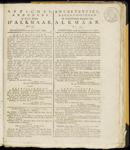 Alkmaarsche Courant 1813-08-25