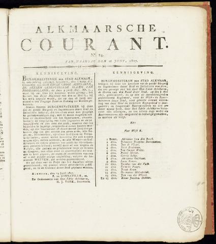 Alkmaarsche Courant 1817-06-16