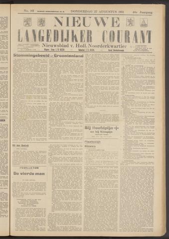 Nieuwe Langedijker Courant 1931-08-27