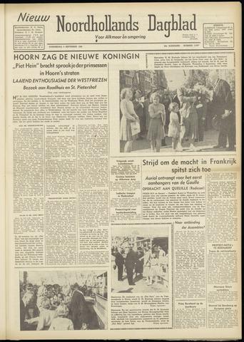 Nieuw Noordhollandsch Dagblad : voor Alkmaar en omgeving 1948-09-09