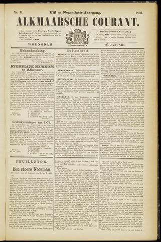 Alkmaarsche Courant 1893-01-25