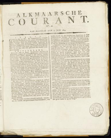 Alkmaarsche Courant 1814-06-27
