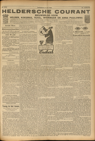 Heldersche Courant 1923-07-04