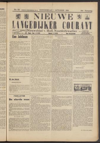 Nieuwe Langedijker Courant 1931-10-01