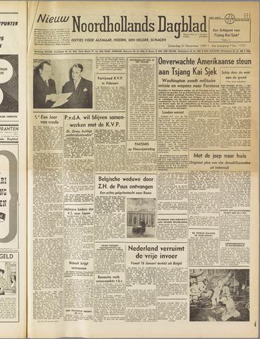 Nieuw Noordhollandsch Dagblad : voor Alkmaar en omgeving 1949-12-31